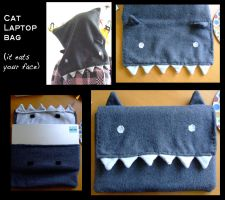 Laptop catbag by Alranth