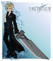 Advent Children Cloud Kiriban by bechedor79