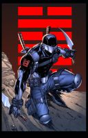 Snake Eyes print by adelsocorona