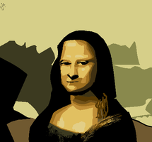 Attempted Mona Lisa MS Paint by supersonicartdrawer