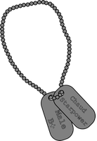 Chaud Starpower's Dog Tags by Rancor-Palmach