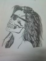 Haired Skull by GustavoHRG