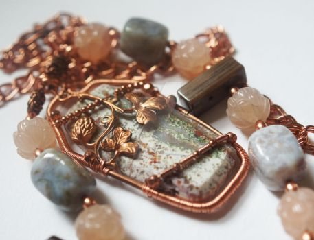 Antiqued  Necklace by CrysallisCreations