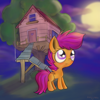 Scootaloo worried by mugg1991