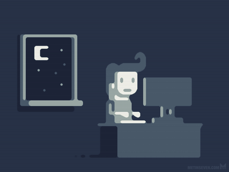 Nocturnetting - animated GIF illustration by m7