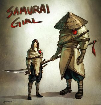 Samurai Girl by ChevronLowery