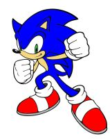 Another Sonic lineArt Colored by Hafu-Inuyasha