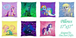 17x17 pillows by bluepaws21