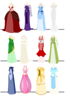 Birthstone Dresses by PearlDolphin