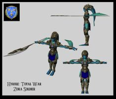 Hyrule: TW - Zora Soldier by UndyingNephalim