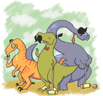 dinosaur gentlemen by heartpuncher