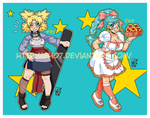 Temari and Bulma by GH07