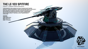 LE-103 Spitfire Heavy Laser Emplacement by Duskie360