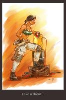 Mechanic Girl by MarcWasHere
