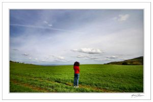 Staring at the wide world... by Michel-Lag-Chavarria