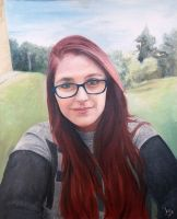 Final self-portrait in oil by F1r3lectrical