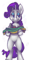 Rarity Carrying Fabric by ferbii