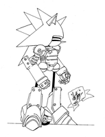 Mecha Sonic by Owaka