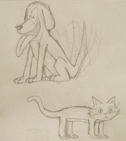 Cat and Dog by doodle-guy7