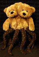 Two Headed Brown Teddy Bear Tentacle Monster by RebeccaStefun