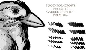 Marker Brushes - Premium by Food-For-Crows