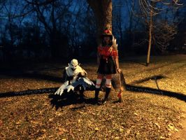 Haunting Nocturne and Bewitching Nidalee cosplay by Owcocosplay
