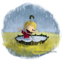 Calvin in the Rain by KarimT