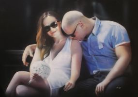 Couple on the bench by rininci
