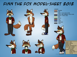 Finn the Fox - Model-Sheet 2012 by LupusNic