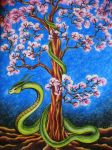 earth snake in spring by wildelbenreiter