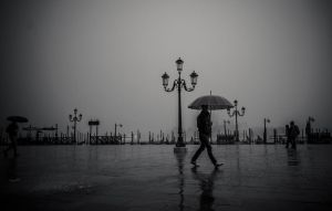 Rain in Venice by AkDemeter