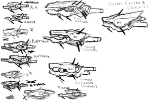 Ship Concepts by MShadowy