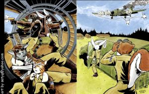 Flying Fortress Furries of WW2 by SatyQ