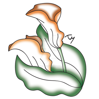 Calla Lilies Quick Draw - Color by tyrynn