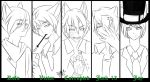Human Version of Friends~! :Black and White: by MadCheshireFox