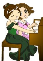 Piano gals by pheona
