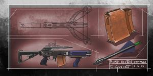 Pump action crossbow by DrZoidberg96