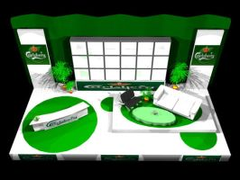 Carlsberg TV-Set front view by vicariousmonster