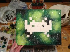 Space Invader... In Space. (2) by HollyannMarie