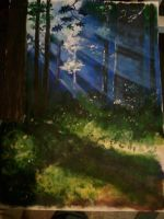 Trees - First painting by Jimbeanus