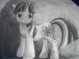 Pony Sketch: Twilight in Charcoal by acerbicCatharsis