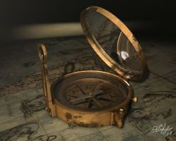 Antique Compass by StageDiz