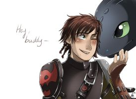 .: HTTYD 2 - Hey there buddy :. by xSkyeCrystalx