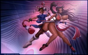 Chun Li Vs Mai Shiranui by gulavisual