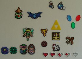 Hama Beads - Pack Zelda 2 by acidezabs