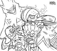 Weakened Pokemon Team
