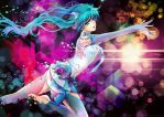 Diving in Melodies-Miku Append by Char-coal