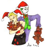 Holidays- Harley and the Joker by witeiris