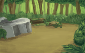 Thunderclan camp concept by Winggal