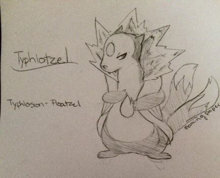 Typhlosion + Floatzel Fusion! by RealFlamingPapers
